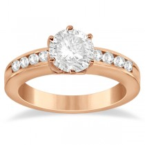 Classic Channel Set Diamond Engagement Ring 14K Rose Gold (0.30ct)