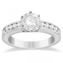 Classic Channel Set Diamond Engagement Ring 14K White Gold (0.30ct)