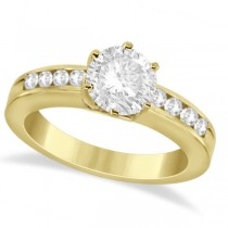 Classic Channel Set Diamond Engagement Ring 18K Yellow Gold (0.30ct)