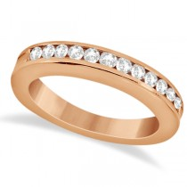 Classic Channel Set Diamond Wedding Band 14K Rose Gold (0.42ct)