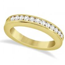 Classic Channel Set Diamond Wedding Band 18K Yellow Gold (0.42ct)