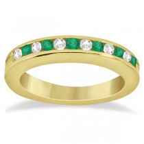 Semi-Eternity Emerald Wedding Band 18K Yellow Gold (0.56ct)