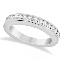 Classic Channel Set Diamond Wedding Band in Palladium (0.42ct)