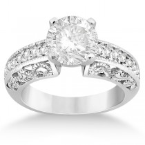Vintage Filigree Diamond Engagement Ring Palladium (0.32ct)
