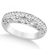 Vintage Filigree Diamond Wedding Ring Palladium (0.32ct)