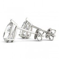 2.00ct Pear-Cut Diamond Stud Earrings 14kt White Gold (G-H, VS2-SI1)
