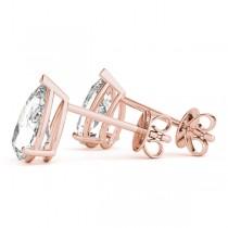 2.00ct Pear-Cut Lab Grown Diamond Stud Earrings 18kt Rose Gold (G-H, VS2-SI1)