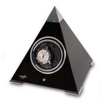 Rapport London Evo Pyramid Single Watch Winder in Wood, 2 Colors