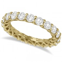 Luxury Diamond Eternity Band Anniversary Ring 14k Yellow Gold (3.00ct)