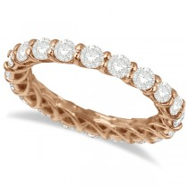 Luxury Diamond Eternity Anniversary Ring Band 14k Rose Gold (2.00ct)