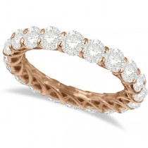 Luxury Diamond Eternity Ring Anniversary Band 14k Rose Gold (4.00ct)