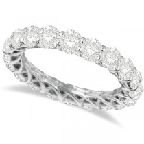 Luxury Diamond Eternity Ring Anniversary Band 14k White Gold (4.00ct)