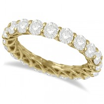 Luxury Diamond Eternity Ring Anniversary Band 14k Yellow Gold (4.00ct)