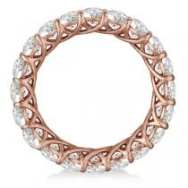 Luxury Diamond Eternity Anniversary Ring Band 14k Rose Gold (4.50ct)