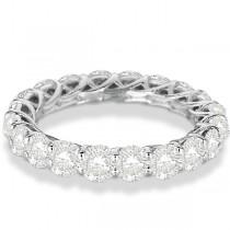 Luxury Diamond Eternity Anniversary Ring Band 14k White Gold (4.50ct)