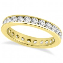 Channel-Set Diamond Eternity Ring Band 14k Yellow Gold (1.50 ct)