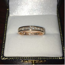 Channel-Set Diamond Eternity Ring Band 14k Rose Gold (1.75 ct)