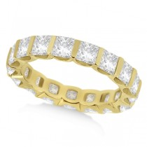 Bar-Set Princess Cut Diamond Eternity Ring Band 14k Y. Gold (1.15ct)