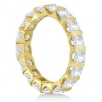 Bar-Set Princess Cut Diamond Eternity Ring Band 18k Y. Gold (1.15ct)