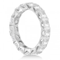 Bar-Set Princess Cut Diamond Eternity Ring Band Platinum (1.15ct)