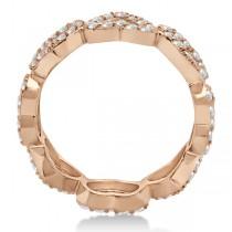 Eternity Interlocking Hearts Diamond Ring 18k Rose Gold (1.00ct)