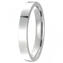 950 Palladium Wedding Band Plain Ring Flat Comfort Fit for Women (3mm)