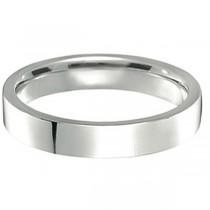 950 Palladium Wedding Band Plain Ring Flat Comfort-Fit (4 mm)