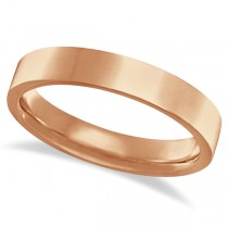 Flat Comfort Fit Plain Ring Wedding Band 14k Rose Gold (5mm)