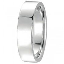 950 Palladium Wedding Band Plain Ring Flat Comfort-Fit for Men (5 mm)