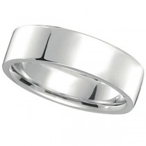 Palladium Wedding Band Plain Ring Flat Comfort Fit for Men (7 mm)