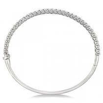 Luxury Stackable Diamond Bangle Bracelet 14k White Gold (4.00ct)|escape