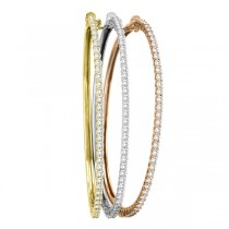 Luxury Stackable Diamond Bangle Bracelet 14k Yellow Gold (2.03ct)