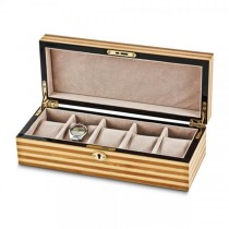 Women's Bamboo Gloss Finish Velvet Lining Watch Box