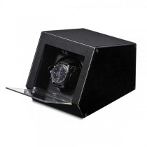 Unisex Black Metal & Acrylic Faux Leather Lining Watch Winder