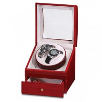Women's Red Cherry High Gloss Finish Turntable Watch Winder