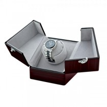 Women's Ebony Gloss Finish Velveteen Lining Single Watch Winder