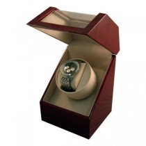 Battery Powered Single Automatic Watch Winder Box in Cherrywood