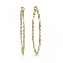 Hidalgo Micro Pave Diamond Hoop Earrings 18k Yellow Gold (1.58 ct)