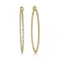 Hidalgo Micro Pave Diamond Hoop Earrings 18k Yellow Gold (0.94ct)