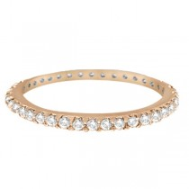 Hidalgo Micro Pave Diamond Eternity Ring Band 18k Rose Gold (0.26ct)