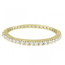 Hidalgo Micro Pave Diamond Eternity Ring Band 18k Yellow Gold (0.26ct)
