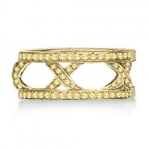 Hidalgo 3 X Micro Pave Yellow Diamond Ring Jacket 18k Gold (0.45ct)