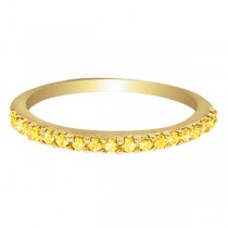 Hidalgo Pave Yellow Diamond Eternity Ring 18k Yellow Gold (0.26 ct)