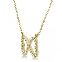 Pave Infinity Heart Diamond Pendant Necklace 14k Yellow Gold (0.39ct)