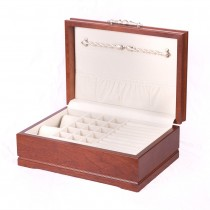 Solid American Cherry Hardwood Jewelry Chest w/Heritage Cherry Finish