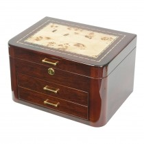 Mapa Inlay Jewelry Chest High Gloss Finish w Multiple Compartments
