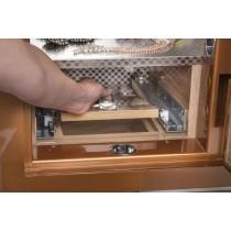 Electronic Fingerprint Lock Jewelry Safe w Key Override in Amber