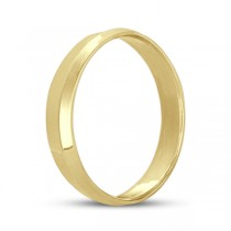 Knife Edge Wedding Ring Band Comfort-Fit 14k Yellow Gold (4mm)