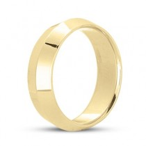 Knife Edge Wedding Ring Band Comfort-Fit 18k Yellow Gold (5mm)