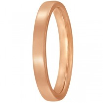 Low Dome Comfort Fit Wedding Ring 14k Rose Gold (2mm)